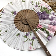 Free Shipping 10pcs/lot with Gift bag Bamboo Cherry Blossom Personalized Printed Chinese Japanese Folding Fan Wedding Invitation
