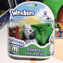 Weebledown Farm Weebles Figure amp Base Dapples The Horse Tumbler toys Model set Animal series Children's gifts Excellent qualit(China)