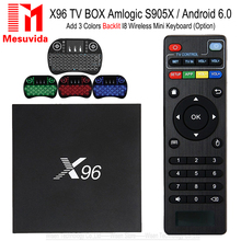 X96 Android 6.0 TV Box Amlogic S905X Max 2GB RAM 16GB ROM Quad Core 2.4GHz WIFI HDMI 4K*2K HD Smart Set Top Box Media Player