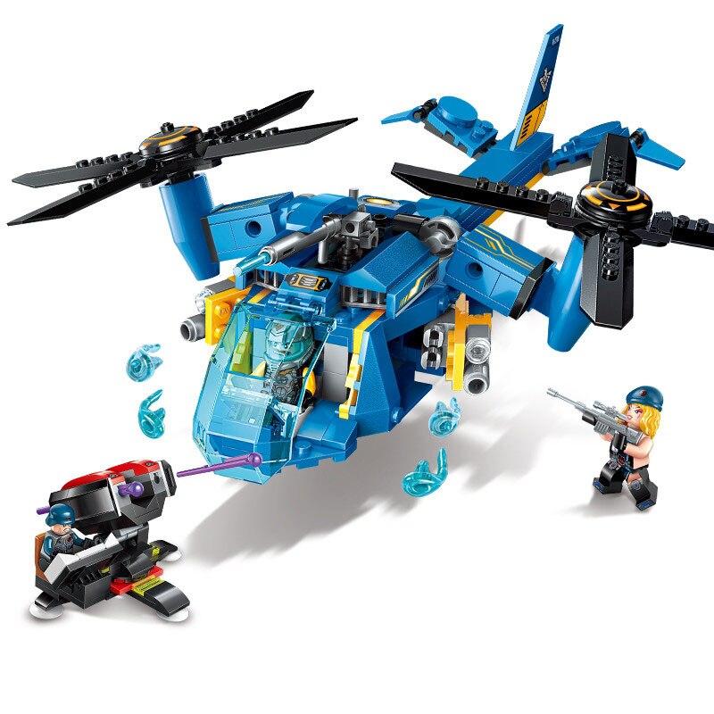 M.Y Brick 97 pce HELICOPTER GUNSHIP  BUILDING BRICKS