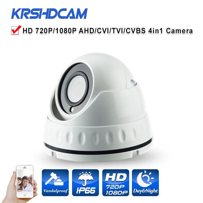 HD 720P/1080P AHD 4 IN 1 Camera 1.0/2.0MP dome 2.8MM option indoor vandalproof CCTV Security Night Vision cameras de seguranca<br>