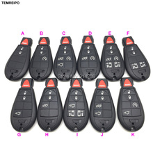 TEMREIPO 20pcs/lot smart remote car key case shell replacement Cover for Chrysler for Dodge for Jeep with uncut blade(China)