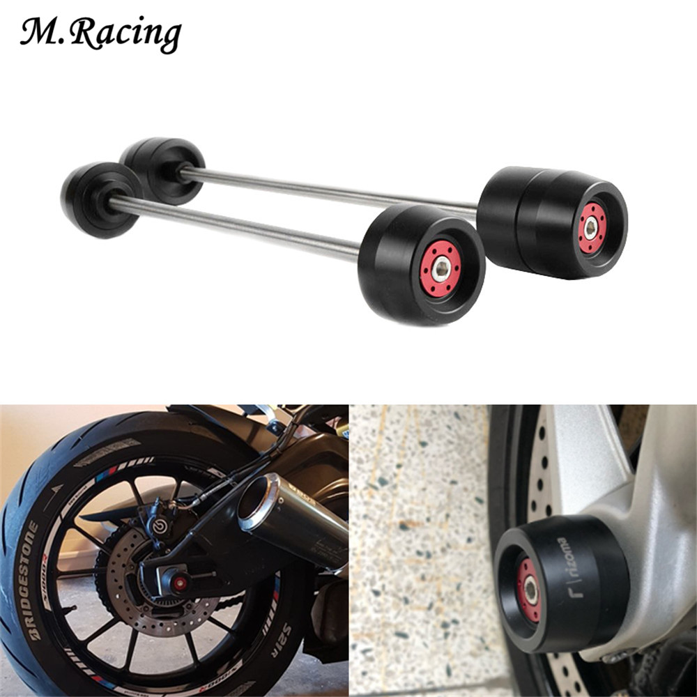 Motorcycle Front Axle Fork Crash Sliders Cap Wheel Protector Part Q