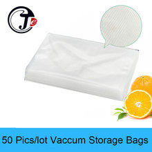 50pics/lot Vaccum Bags 15*25CM 20*25CM 22*30CM 25*35CM 28*40CM Vacuum Seal Sealer Packer Packing Machine Food Bag for Kitchen(China)