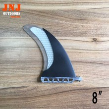 "3k carbon fiber 8"" Honeycomb Fiberglass FCS sup stand up paddle board centre fin SUP TABLE fin(China)"
