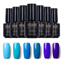 Rosalind 7ML Little Black Bottle Blue Color Series  Gel Nail Polish Long-lasting Nail Gel Soak Off UV LED Polish Gel Lacquer