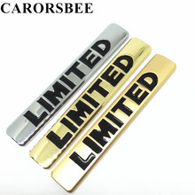 CARORSBEE Metal glossy LIMITED Logo Chrome Emblem Badge Car sticker Auto Side rear trunk matte Decals For automobiles motorcycle