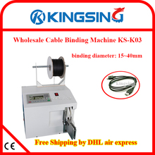 Automatic Desktop Cable Wire Coil Binding Typing Machine & Metal Core Cable Tie KS-K03+ Free Shipping by DHL air express(China)