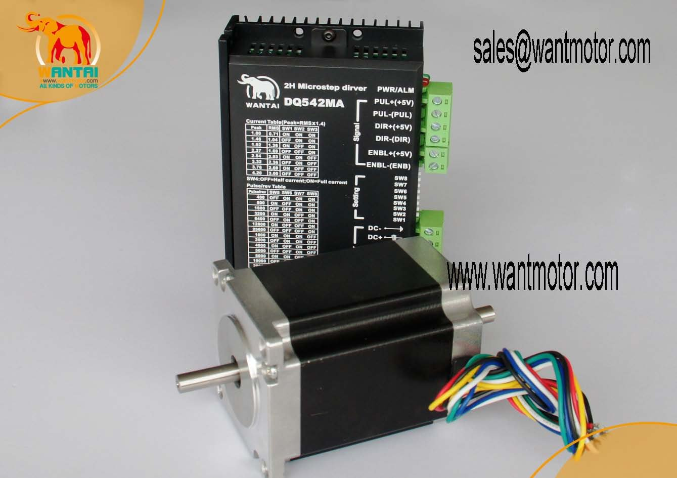 High Nema 23 Stepper Motor 185oz-in CNC Matching Driver 4.2A, 50VDC,125 Microstep Engaving Mill<br><br>Aliexpress