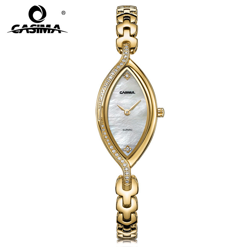 CASIMA luxury fashion metal quartz watch bracelets for women with shining rhinestones waterproof 2619<br>