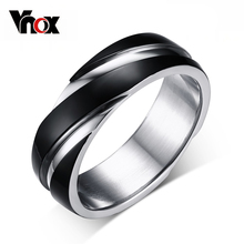 Buy Vnox 6mm Back Ring Men Titanium Steel Wedding Finger Jewelry US size 5-13 for $2.09 in AliExpress store