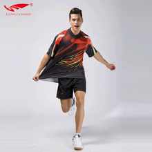hot sale men badminton jersey polo t shirt quick drying table tennis shirt sets breathable uniforms outdoor men sportwear kits(China)