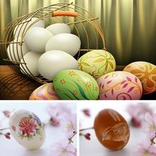 Easter Bunny Chick Printing Alloy Metal Trinket Tin Easter DIY Wooden Eggs Shaped Candy Box Tinplate Case Party Decoration