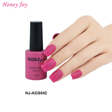 AVIIAE Pop Deep Rose Pink Fashion Color Gel Nail Polish Long-Lasting Soak-off LED UV Lamp Cure Cosmetic Make Up Gel Polish 12ML