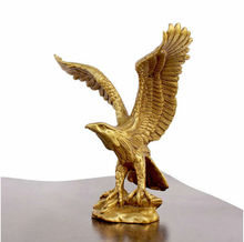 "China Bronze Brass Statue EAGLE/Hawk Figure figurine 4.5""High"