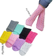 Warm comfortable cotton bamboo fiber girl women's socks ankle low female invisible  color girl boy hosiery 1pair=2pcs WS11