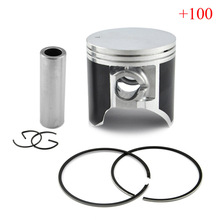 LOPOR TSR200 Piston Kit with Rings and Clips Motorcycle Engine parts Piston Set For Suzuki TSR 200 +100 Cylinder Bore Size 67mm(China)