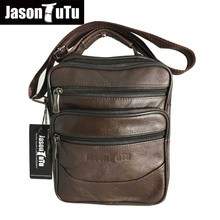 JASON TUTU Brand Genuine leather Men Bag Crossbody bag,Small Shoulder bags Men messenger bags bolsos Handbag Black Brown B360(China)