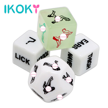 IKOKY 4 pcs/set Erotic Toys 12 Sides Sex Toys for Couple Funny Adult Games Sex Dice Humour Gambling Crap