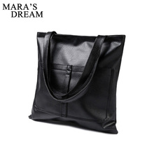 Mara's Dream 2017 Fashion Big Bags All-match PU Leather Women's Handbag Large Capacity Women Tote Bag Shoulder Bag Cheap Handbag