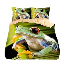 WARMTOUR 3d bedding set Frog bedding print twin queen king king bedclothes duvet cover set bedlinen Queen/Twin/Full/King Size(China)