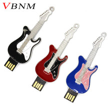 VBNM Crystal guitar pen drive musical instrument usb flash drive gift pendrive 4GB 8GB 16GB 32GB metal guitars memory stick