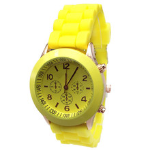 2017 Relogio Feminino erkek kol saati Cheap Silicone Band Quartz Jelly Wrist Watches For Women/Ladies/Girls A #June5
