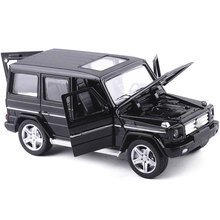 Mini AMG G55 Diecast Metal Car Toy 1:32 Scale G65 Pull Back Alloy Car Flashing Musice Auto Model Collection Car Oyuncak for Boy(China)