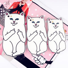 "For iPhone 5 5s / SE/ 6 6s 4.7"" / 6 Plus 6s Plus 5.5"" RIPNDIP Pocket Cat Silicone Rubber Cell Phone Cases Covers"