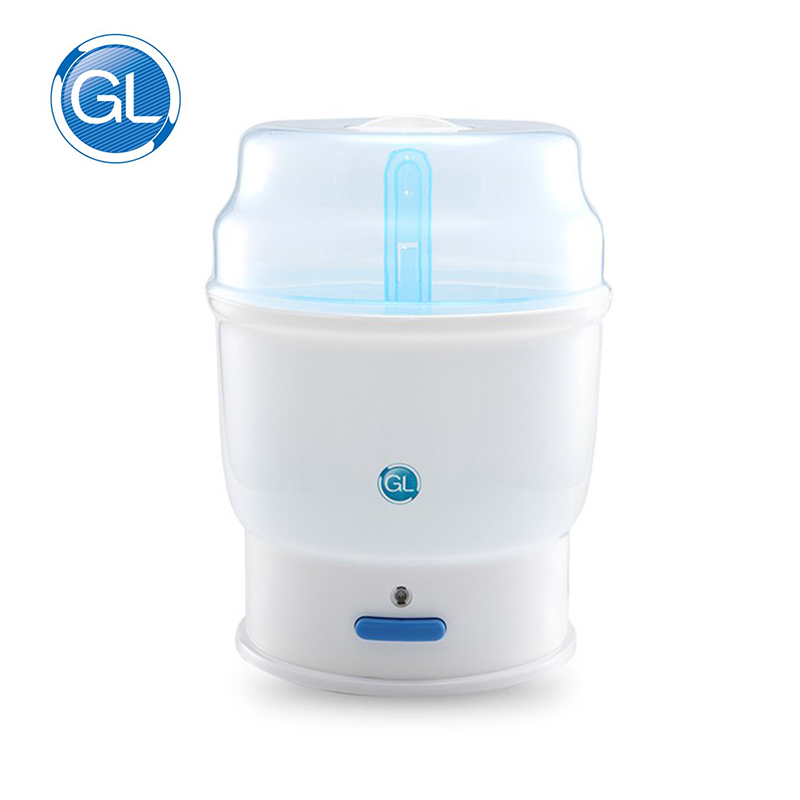 Bottle Sterilizer GL Baby Fast High Temperature Steam Sterilization Big Capacity for 4 Bottles 500W with Plug Sterilizer 1Pc<br>