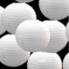 24pcs/Lot Mixed Two Sizes White Chinese Paper Lanterns for Wedding Birthday Party Baby Shower Decoration Holiday Supplies(China)
