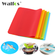 WALFOS 1 piece High Quality 40x30cm Silicone Mats Baking Liner Best Silicone Oven Mat Heat Insulation Pad Bakeware Table Mat