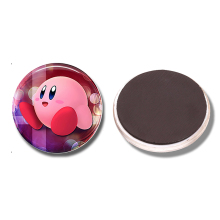 Kirby Super Smash Bros 30 MM Fridge Magnet Melee Brawl Glass Cabochon Magnetic Refrigerator Stickers Note Holder Home Decoration