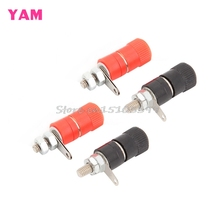 4Pcs Speaker Amplifier Terminal Binding Post Banana Plug Socket Female Connector #G205M# Best Quality(China)