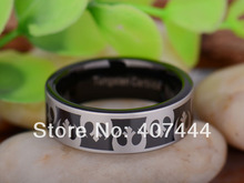 Free Shipping YGK JEWELRY Hot Sales 8MM Black Pipe Star Wars Rebel Alliance Men's Tungsten Carbide Wedding Ring(China)