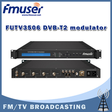 Free shipping FMUSER FUTV3506 DVB-T2 modulator (2*ASI in,1* IP out,QPSK/16QAM/64QAM/256QAM )with network system
