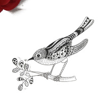 10x10cm magpie bird Clear Transparent Stamp DIY Scrapbooking/Card Making/Christmas Decoration Supplies