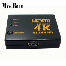 2017 High Quality 4K*2K 1080P HDMI Video Audio Signal Splitter 3 Input 1 Output Switch Switcher For DVD/PS4/HDTV Free Shipping