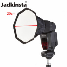 Jadkinsta 20cm Octagon Universal Mini Softbox Flash Diffuser Portable Camera On-top Soft Box 8 Square Photo Studio Soft Tent(China)