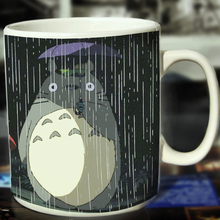 New Totoro Ceramic Coffee Mug White Color Or Color Changed Cup Raining---Loveful