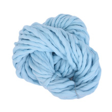 1pcs 20 Colors Soft Wool 100% Roving Bulky Thick Big Yarn Spinning Hand Knitting Thread Crochet Yarn for Hat Scarf Knitting(China)