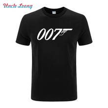 Summer New Fashion Quality Movie Film James Bond 007 Printed T Shirts Short Sleeve O Neck Casual Cotton Male T-shirts