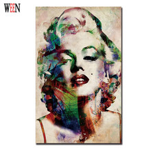 Monroe Wall Pictures Canvas Arts decorations for home Poster Abstract Woman Canvas Printed For Living Room Cuadros Decor