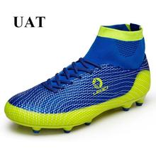 Newest 2017 high ankle football boots superfly original soccer shoes male AG soccer cleats outdoor lawn kids sport shoes men