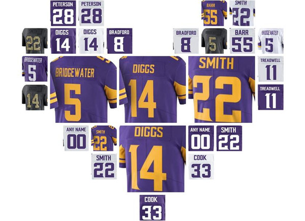 american football jerseys Harrison Smith Dalvin Cook Stefon Diggs Teddy Bridgewater Sam Bradford Adam Thielen shirts(China)