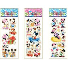 1 pc Cartoon Puffy Kids Paper Stickers Kawaii Scrapbooking Stickers Dog Animal Princess Emoji Butterfly Stickers(China)