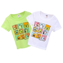 Kids Girls Letters Cartoon Printed Short Sleeve Cotton Tops 2-7Y Summer Baby Kids T-Shirt Boys