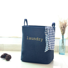 35x25x40CM New arrival Laundry Blue Oxford storage bag,baby kids toys clothing closet organizer bag,LUNDRY storage bag can stand(China)