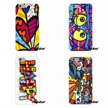For iPhone 4 4S 5 5C SE 6 6S 7 Plus Soft Silicone Cell Phone Case Cover Fish Cat Flowers Graffiti Romero Britto