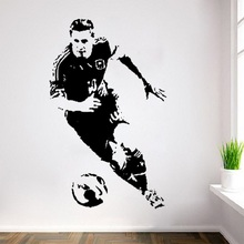Sport Vinyl Lionel Messi Football Wall Stickers Barcelona Star Argentine Stickers Muraux 3d Posters and Prints Scratch Map Rugby